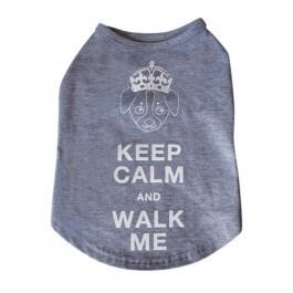 "Keep calm and walk me Tshirt Size Large 12"""