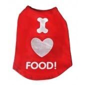 "I love food T-Shirt size Large 12"""
