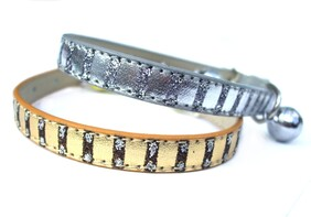 Colour Silver Luxurious metallic & glitter your cat will look every inch the Egyptian Royal