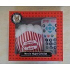 Movie Night Gift Set contains blanket, popcorn toy and remote toy for Dogs
