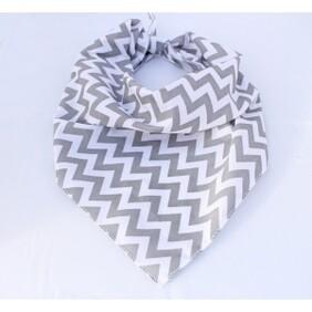 Grey chevron bandana size S/M