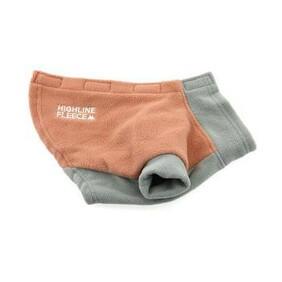 Highline Fleece Dog Coat - Coral and Grey (Step-in Style) Size 16