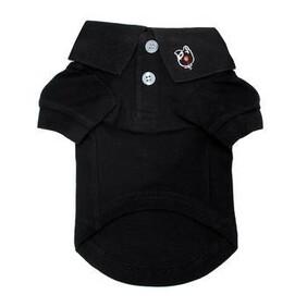 Dog polo shirt Black Size Large