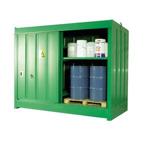HS6 Outdoor Drum Store - 8 Drum + Shelf