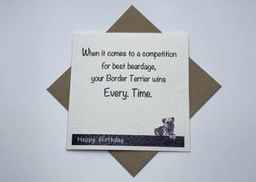 BTW greeting card - Birthday Beardage