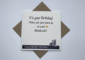 BTW greeting card - Border Birthday