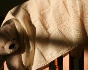 Knitting Tins : Baby Blanket knitting kit
