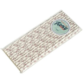 White with Baby Rabbits Biodegradable Paper Drinking Straws - Size 197mm x 6mm (Regular)