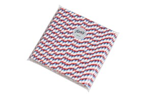 Smoothie Red White and Blue Stripe (197mm x 8mm) Biodegradable Paper Drinking Straws