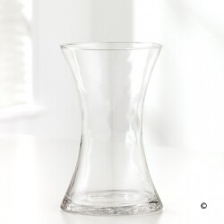 Vase in clear, blue, green and red
