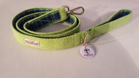 Harris Tweed Lead - Lime Green