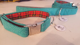 Harris Tweed Collar - Jewel Green