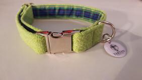 Harris Tweed Collar - Lime Green