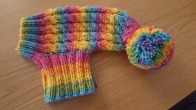Rainbow Snood Hood