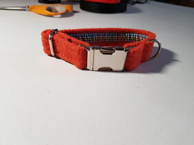 Harris Tweed Collar - Orange