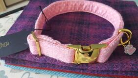 Harris Tweed Collar - Dolly Mixture Pink