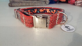 Harris Tweed Collar - Red Check