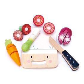 Wooden Mini Chef Chopping Board Tender Leaf Toys
