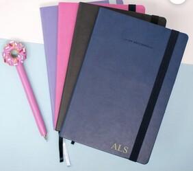 Personalised Monogram Stylish Notebook, Custom Initial Journal