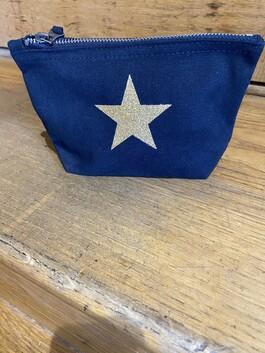 Small Canvas Star Makeup Bag