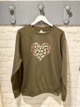 Rose Gold Heart Print Design Jumper