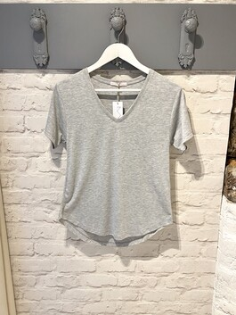 V-Neck Grey T-shirt (Dotty)
