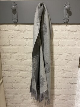 Tree Of Life Cashmere Mix Winter Scarf With Tassels