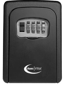 ASEC VITAL 4 Wheel Combination Key Safe Black