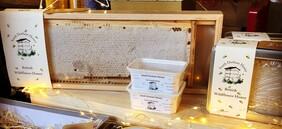Honeycomb Frame Of English Wildflower Honey
