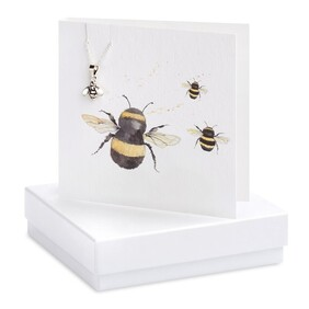 Crumble & Core Bee Necklace Boxed Card