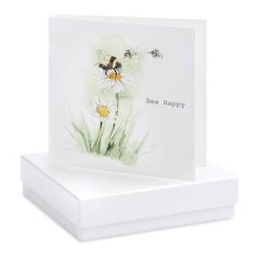 Crumble & Core Bee Happy Earring Card