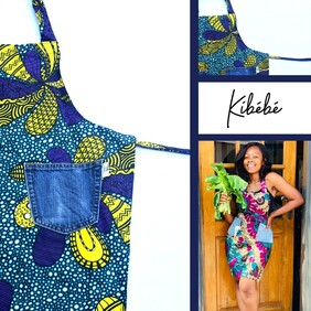 Adult Apron Blue and Yellow