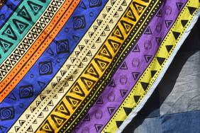 POP DIAMONDS Denim Backed Bedspread or Picnic Blanket