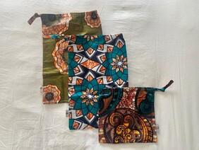 Set of Three Drawstring Bags