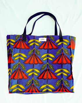Red And Yellow Flowers Shopping Bag