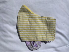 Yellow Stripe Face Mask (Adult)