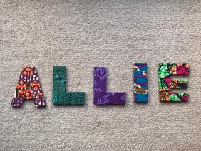 Fabric Covered Wooden Letters - ALLIE