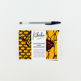Pack of 6 Cards with Envelopes Yellow and Orange