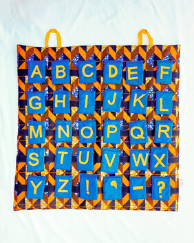 Alphabet Play Mat Wall Hanging Blue Letters