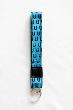 Turquoise Key Wristlet