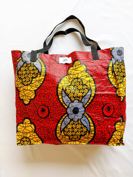 Red and Yellow Shopping Bag