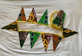 Yellow, Orange and Green Triangle Bunting (8M)