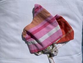 Pink and Orange Stripe Face Mask (Adult)