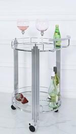 Silver Drinks Trolley