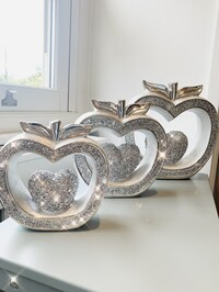 Crystal Love Heart Apples