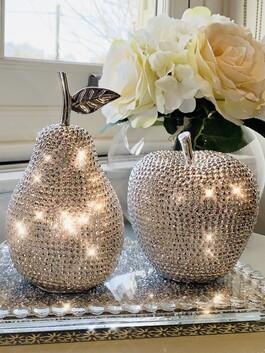 Diamante Apple & Pear Ornament