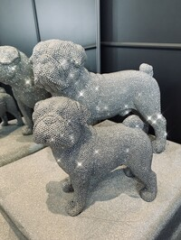 Sparkly Diamante Standing Pug Small & Large