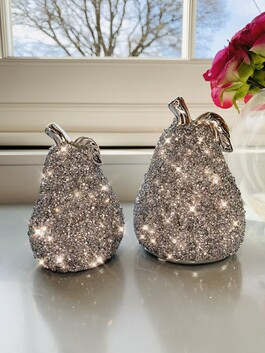 Crystal Glitz Pear Set of 2