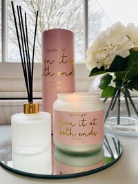 'Burn It At Both Ends' Candle And Diffuser- Pink Petal Scent