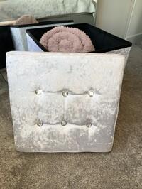 Crystal Velvet Storage Box White